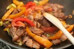 Alimento dell'asiatico della frittura Immagine Stock