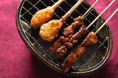 Alimento dell'indonesiano della carne di Satay Fotografia Stock Libera da Diritti