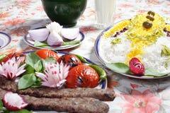 Alimento dell'Iran fotografia stock