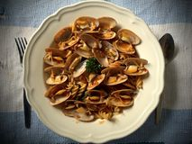 Alimento dell'Italia con stile tailandese Fotografie Stock Libere da Diritti