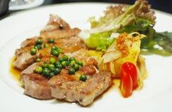 Alimento della bistecca di Kurobuta Fotografia Stock Libera da Diritti