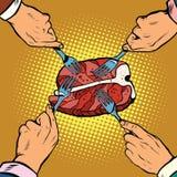 Alimento della carne del controfiletto della bistecca royalty illustrazione gratis