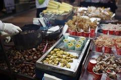 Alimento della Corea Myeong-Dong Fotografia Stock Libera da Diritti