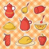 Alimento della cucina di vettore Fotografia Stock
