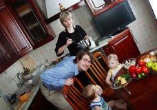 Alimento della famiglia Fotografia Stock Libera da Diritti