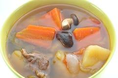 Alimento della minestra della carne Immagini Stock