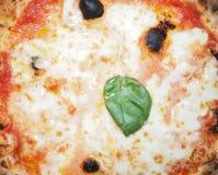 Alimento della pizza di Margherita Fotografia Stock
