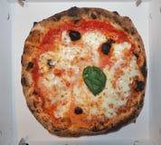 Alimento della pizza di Margherita Immagine Stock Libera da Diritti