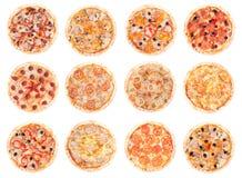 Alimento della pizza tutte le pizze Fotografia Stock