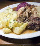 Alimento della repubblica Ceca dell'arrosto di maiale di stile di Moravian Fotografie Stock
