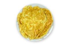Alimento della Tailandia dell'omelette su fondo bianco fotografie stock