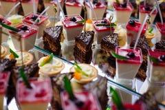 Alimento della tavola di buffet Fotografia Stock Libera da Diritti