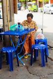 Alimento della via a Bangkok, Tailandia Fotografie Stock Libere da Diritti