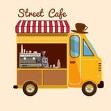 Alimento della via, caffè, fumetto, automobile Fotografie Stock