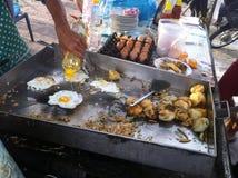 Alimento della via della Cambogia Fotografia Stock Libera da Diritti