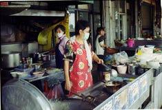Alimento della via di Bangkok immagine stock
