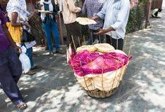 Alimento della via, India Fotografia Stock Libera da Diritti