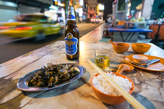 Alimento della via in Kuala Lumpur Chinatown immagine stock libera da diritti