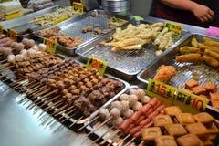 Alimento della via, mercato di notte Fotografia Stock Libera da Diritti