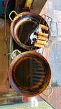 Alimento della via sul wok, Hanoi, Vietnam Fotografia Stock