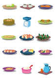 Alimento dentro   Fotografie Stock