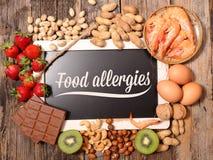 Alimento di allergia fotografia stock