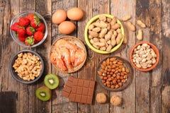 Alimento di allergia Immagini Stock