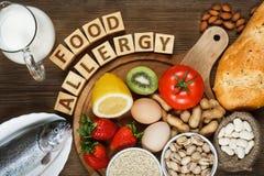Alimento di allergia Fotografie Stock Libere da Diritti