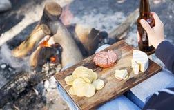 Alimento di campeggio Fotografia Stock Libera da Diritti