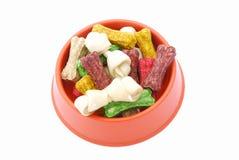 Alimento di cane in ciotola Fotografia Stock