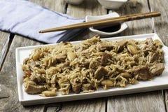 Alimento di Chineese sul vassoio Fotografia Stock