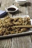 Alimento di Chineese sul vassoio Fotografie Stock Libere da Diritti