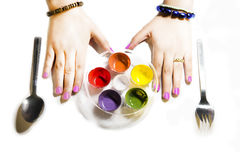 Alimento di colori Fotografia Stock Libera da Diritti