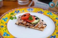 Alimento di Decorational con il pane croccante fotografia stock libera da diritti