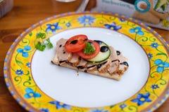 Alimento di Decorational con il pane croccante fotografie stock