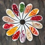 Alimento di dieta sana per promuovere salute del cuore Fotografie Stock Libere da Diritti