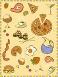 Alimento di divertimento Fotografie Stock