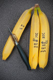 Alimento di divertimento Gruppo della banana immagini stock libere da diritti