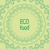 Alimento di eco del cerchio di verde del cetriolo del modello di vettore fotografie stock libere da diritti