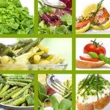 Alimento di estate del collage Fotografia Stock Libera da Diritti