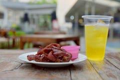 Alimento di Fried Pork piccante Fotografie Stock Libere da Diritti