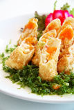 Alimento di fusione uovo di pesce dei pesci di volo Fotografia Stock Libera da Diritti
