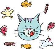 Alimento di gatto Fotografia Stock