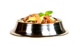 Alimento di gatto raffinato Fotografia Stock