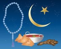 Alimento di Iftar Fotografia Stock