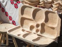 Alimento di legno del servizio della scelta Fotografia Stock