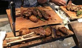 Alimento di Mahane Yehuda Market Crave Gourmet Street immagini stock