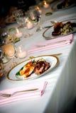 Alimento di nozze Fotografia Stock
