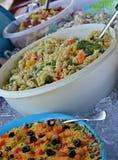 Alimento di picnic del Potluck Fotografie Stock