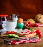 Alimento di prima colazione di mattina Fotografia Stock